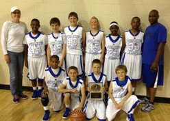 Athletes First 5th grade wins Championship in the 2012 Sooner Cager Classic.